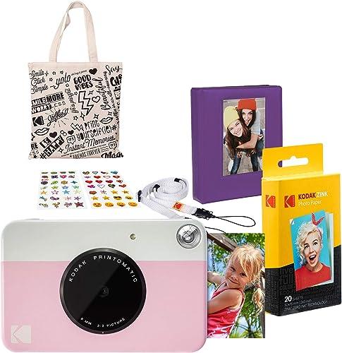 new arrival Kodak 2021 PRINTOMATIC Instant Print discount Camera (Pink) Gift Bundle (AMZASK2RODPK) outlet online sale