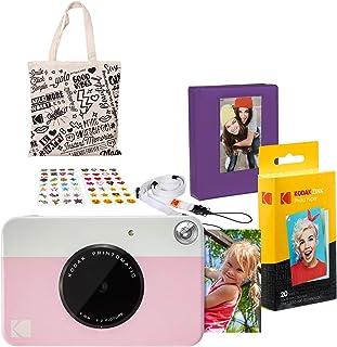 Kodak PRINTOMATIC Cámara de impresión instantánea (Rosado) Paquete de Regalo