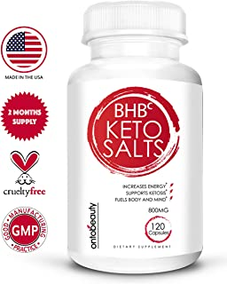 Keto Diet Pills Fat Burner - BHB Exogenous Ketones for Weight Loss - BHB Salts Keto Supplement Boosts Energy and Metabolism - Supports Your Keto Diet - 2 Months Supply of Beta Hydroxybutyrate BHB