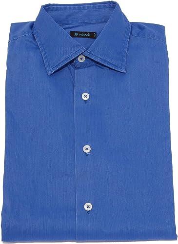 BROUBACK 1823X Camicia hommes bleu Washed Cotton Shirt Man