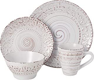 Elama 930102700M Malibu Sands 16pc Dinnerware Set