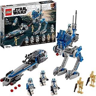 LEGO 75280 Star Wars Set de Jeu Les Clone Troopers de la 501ème légion et Marcheur at-RT