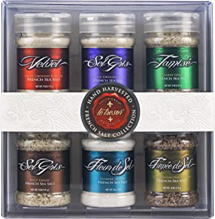 SaltWorks The French Collection, Gift Set, Premium Sea Salt from France, (Set of 6), 40.5 Ounce