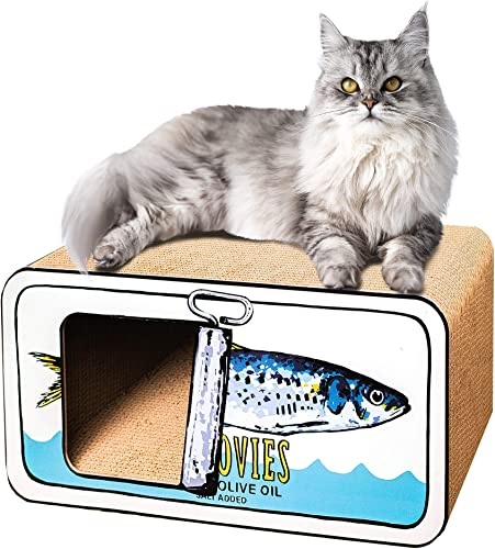 discount Park & Bench Supreme Cat Condo with Cat Scratcher and Lounger - popular Modern Cat Furniture outlet online sale with Premium Cardboard Cat Scratch-Pad and Hidey Hole, Superior Cardboard Construction online