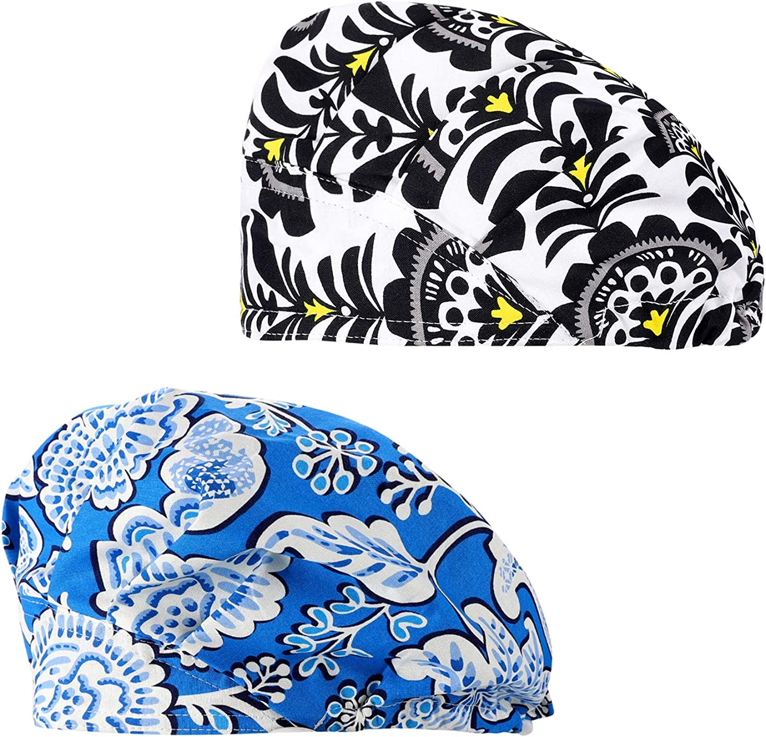 Cascacy 2 Pack Women's Ranking TOP16 Adjustable Cap Working W Bouffant Surprise price Cotton