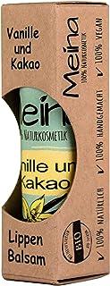 Meina Naturkosmetik - Natürlicher Lippenbalsam mit Vanille und Kakao 1 x 5 g Vegan Lip Balm gegen trockene Lippen