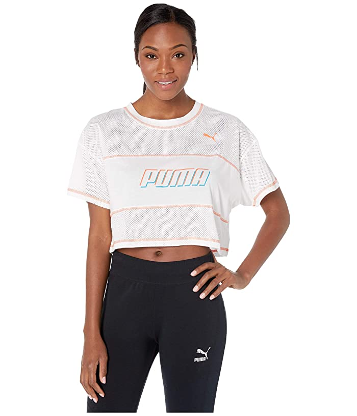 PUMA Modern Sports Cropped Tee (PUMA White) Women