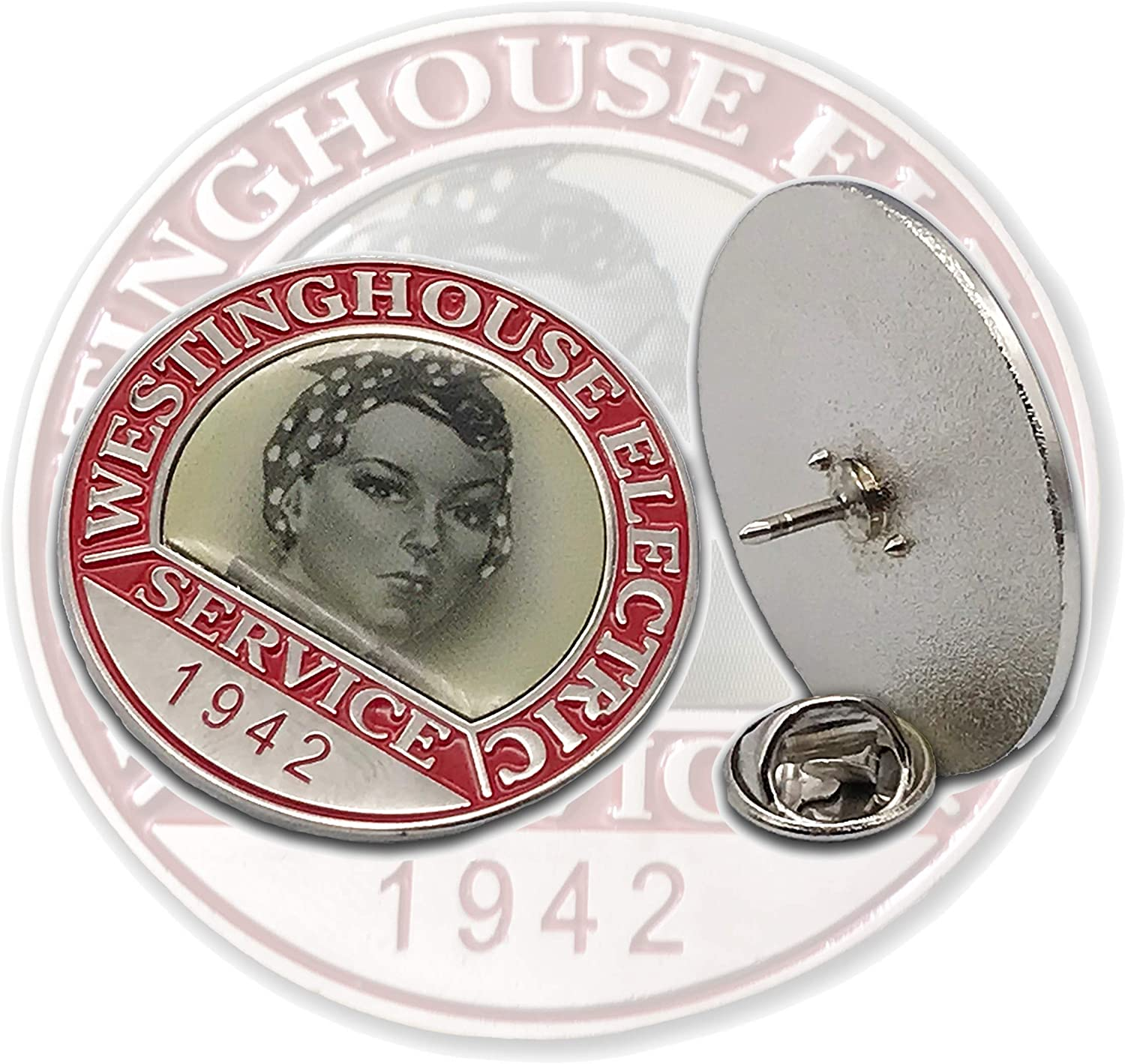 Rosie the Riveter Pin Authentic Max 54% OFF Collar WW2-Style Max 67% OFF on Enamel