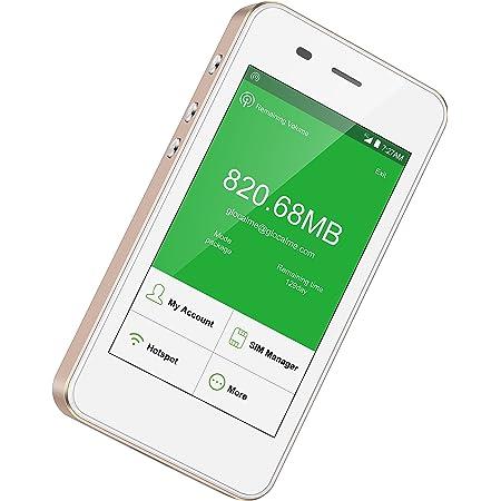 GlocalMe G3【公式販売】 (Gold・金) モバイル WiFi ルーター SIMフリー無料のグローバルデータ付き(1.0GB) ポケットWiFi 140を越える国や地域に対応 5350mAh モバイルバッテリー機能
