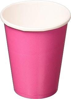 Amscan 58015-103 Pink Paper Cups 266ml-8 Pcs