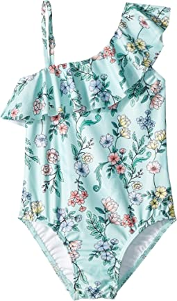Mystical Garden Ruffle Tank One-Piece (Toddler/Little Kids)
