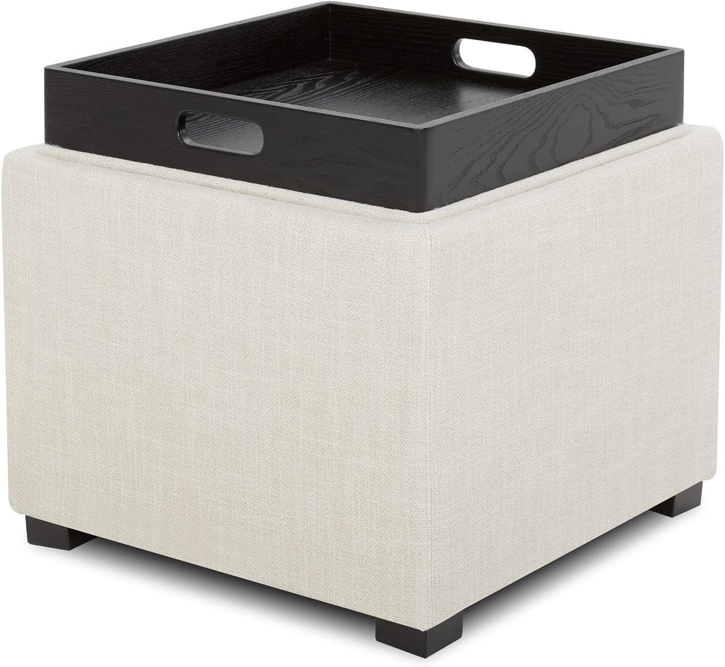 CHITA Fabric Storage Ottoman Cube Seat Footrest as Sale Selling rankings Special Price Serve Stool