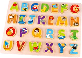 Fat Brain Toys Alphabet Adventure Wooden Puzzle