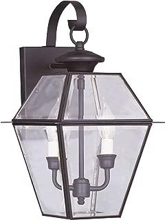 Livex Lighting 2281-07 Westover 2-Light Outdoor Wall Lantern, Bronze