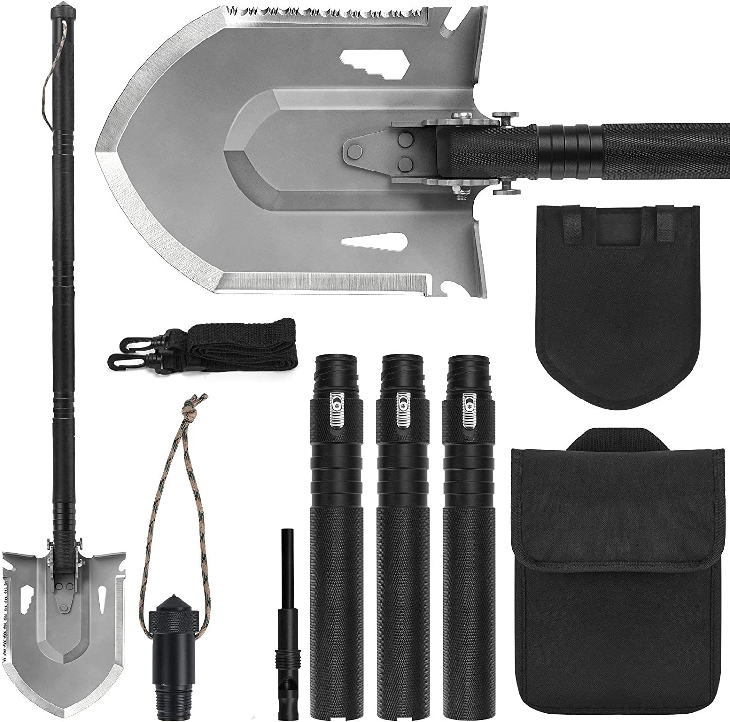 Survival Shovel sale Multitool FLYEGO Camping Storage Low price with Po