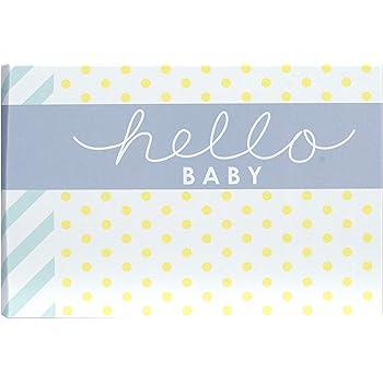 Malden International Designs Hello Baby Photo Album, 40-4x6, White