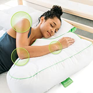 Sleep Yoga Good Beneficial Yoga Helps Strengthen Our core Muscles and Keeps Our Body Flexible, which, in Turn, Improves n Side Sleeper Arm Rest Posture Pillow with White Zipper Cover