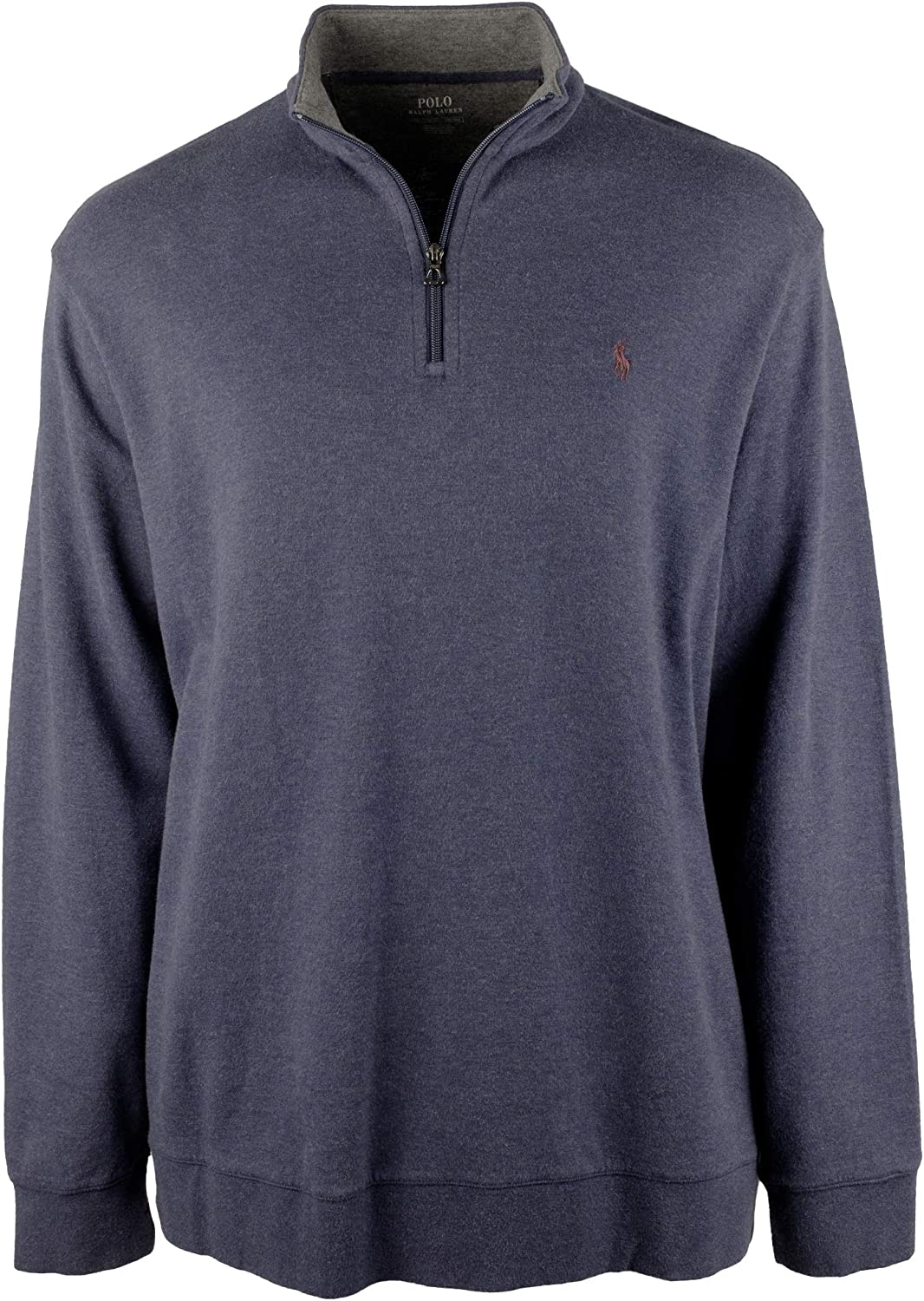 Ralph Lauren Polo Mens Big and Tall 1/2 Zip Jersey Pullover