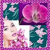 Collage de fotos de orquídeas