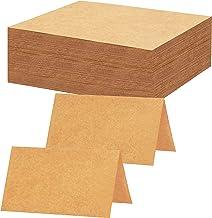 BELLE VOUS Marque Place (Lot de 200) - Porte Nom Plan de Table Mariage, Etiquettes, Banquets, Décorations de Mariage - Carte de Place Papier Kraft Marron - Carton de Table Rustique