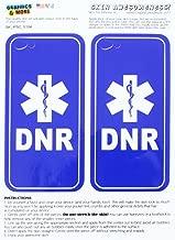 Graphics and More dnr لا resuscitate–ملصق–Star من الحياة في حالات الطوارىء الطبية جلد حماية لهاتف Apple iPhone 5°C–مجموعة من 2–حزمة غير مجزأة–غامق