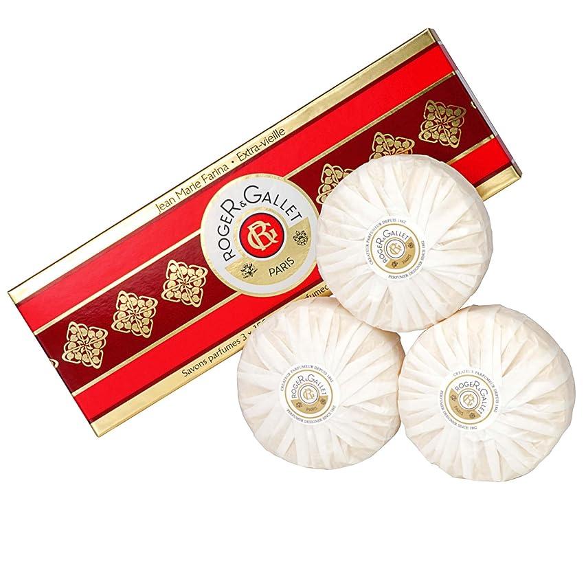 神経護衛儀式ロジャー&Galletのジーンズマリーファリナ石鹸は、3つのX 100グラムを設定しました (Roger & Gallet) (x2) - Roger & Gallet Jean Marie Farina Soap Set 3 x 100g (Pack of 2) [並行輸入品]
