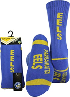 NRL Unisex Crew Sport Socks, Parramatta Eels