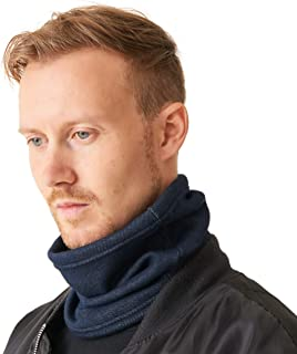 CHARM Neck Warmer Tube Scarf - Winter Circle Gaiter Stretch Men Denim Japan Made