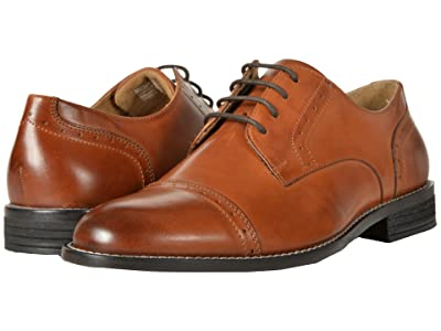Nunn Bush Sparta Cap Toe Dress Casual Oxford (Cognac) Men