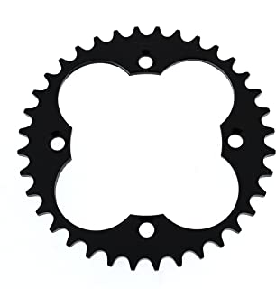 Race Driven 36 Tooth Rear Black Sprocket 520 Pitch for Honda TRX 250 250R 250X 300 300EX 400 400EX 400X 450 450R