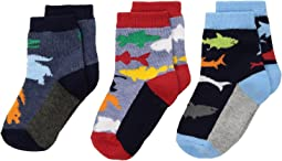 Jefferies Socks Water Animals Crew 3-Pack (Infant/Toddler/Little Kid)