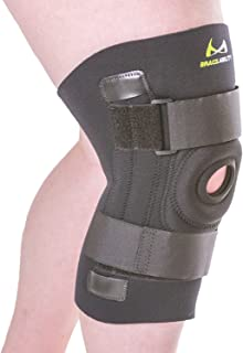BraceAbility Knee Brace for Large Legs and Bigger People with Wide Thighs | Kneecap Protection Pad Treats Patellar Tendonitis, Chondromalacia, Patellofemoral Pain, Instability & Dislocation (3XL)