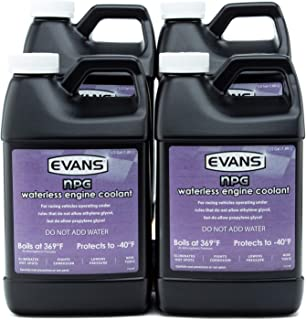 Evans EC10064 Waterless Race Track Specialty Coolant (NPG), 64 fl oz., 4 Pack With Funnel