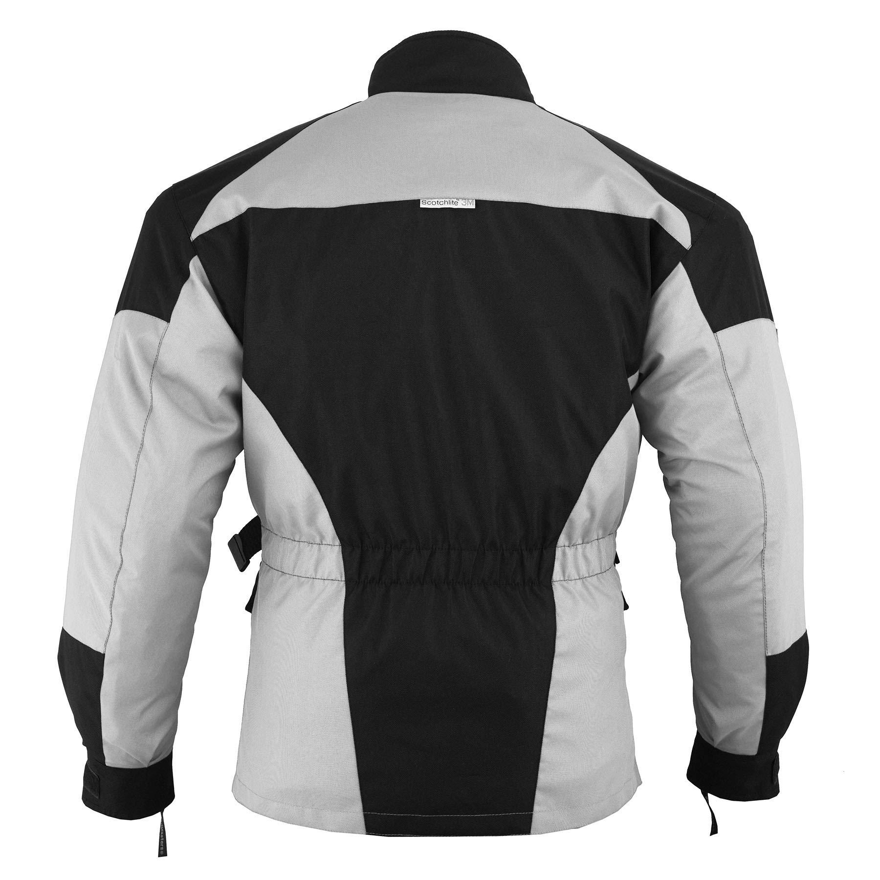 German Wear/ negro//gris /Pantalones de motorista Cordura Textiles Pantal/ón de Motorista Combi Pantal/ón
