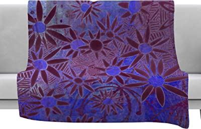 Kess InHouse Marianna Tankelevich Panther at Night Purple Blue Bed Runner