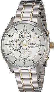 Reloj Seiko Chronograph para Hombres 44mm, pulsera de Acero Inoxidable