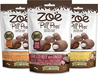 Zoe Pill Pops for Pets, Healthy All Natural Dog Treats for giving Medication, Assorted Pack