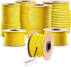 Seilwerk STANKE gevochten touw van polypropyleen GEEL zeilen touw, koord - 20mm, 10m
