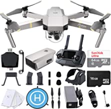 DJI Mavic Pro Platinum 4K Quadcopter Drone with SanDisk 64gb Card, Card Reader, Landing Gear Height Extender, Landing Pad ...