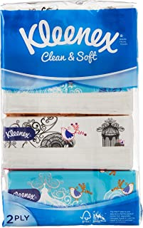 Kleenex Ultra Soft Facial Tissue 2 PLY (Soft Box), Classic, 180ct (Pack of 4)