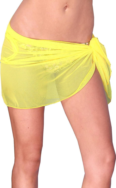 ToBeInStyle Women's Knee Long Beach Pareo Wrap w/Corner Ties