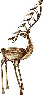 Design Toscano FU80103 Deer Antler Falls Cascading Metal Sculptural Fountain, Gold