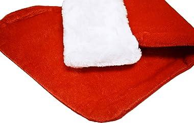 "Black Duck Brand Set of 24 Christmas 19"" Red Velvet Stockings W/White Plush Cuff & Hanging Tag (24)"