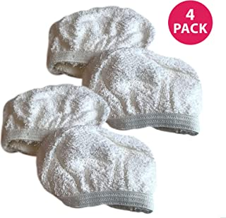 Crucial Vacuum Replacement Steam Mop Pads Part # 440001712 - Compatible with Dirt Devil Mops Models PD20020, PD20005 Hand Held Steamers - Head Pad for Cleaning Home, House Office - Bulk (4 Pack)