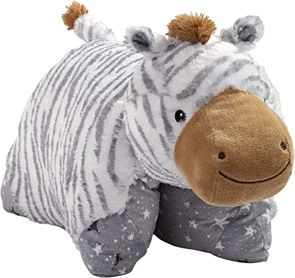 Pillow Pets Naturally Comfy Zebra Stuffed Animal Plush Toy