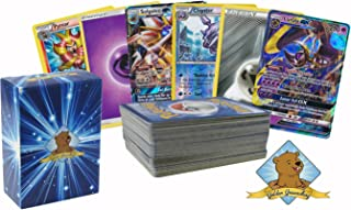 Pokemon 100 Card Lot with Energy, Rares, Featuring 2 Legendary GX Cards No Duplication By Golden Groundhog