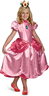 Nintendo Super Mario Brothers Princess Peach Deluxe Girls Costume, Small/4-6x
