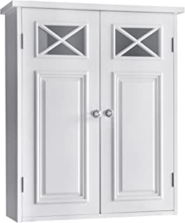 Best Elegant Home Fashions Dawson Wall Cabinet, White Review