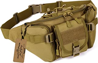ArcEnCiel Tactical Fanny Pack for Men Waist Bag Military Hip Belt Outdoor Hiking Fishing Bumbag