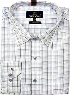 Mens Formal Shirts Cotton, Long Sleeves Size 4XL Regular Fit,MENS SHIRTS